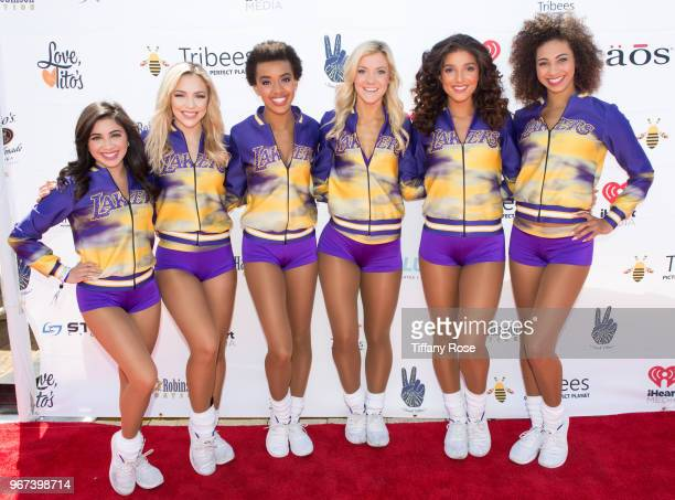 The Laker Girls attend the 8th Annual Pedal On The Pier Fundraiser at Santa Monica Pier on June 3 2018 in Santa Monica California