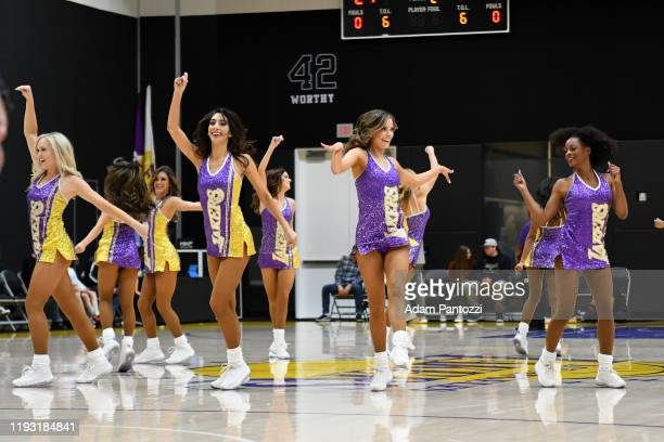 The Laker Girls perform during a game between the South Bay Lakers and the Rio Grande Valley Vipers on January 11, 2020 at UCLA Heath Training Center...