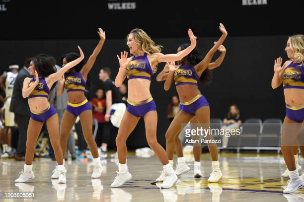 The Laker Girls perform during the game between the South Bay Lakers and the Santa Cruz Warriors on February 26, 2020 at UCLA Heath Training Center...