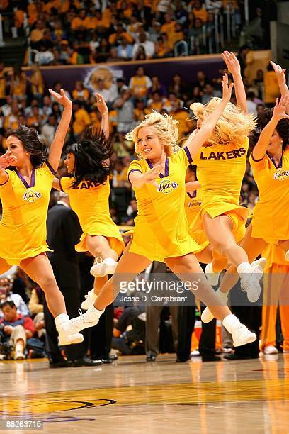 The Laker Girls perform in Game One of the 2009 NBA Finals between the Los Angeles Lakers and the Orlando Magic on June 2009 at Staples Center in Los...