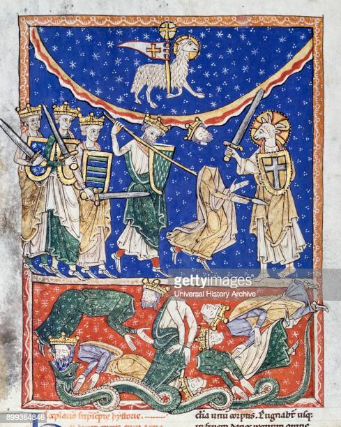 The Lamb Defeating the Ten Kings Spanish about 1220–35 Medieval illustration from the Beatus of Liébana Saint Beatus was a monk theologian and...