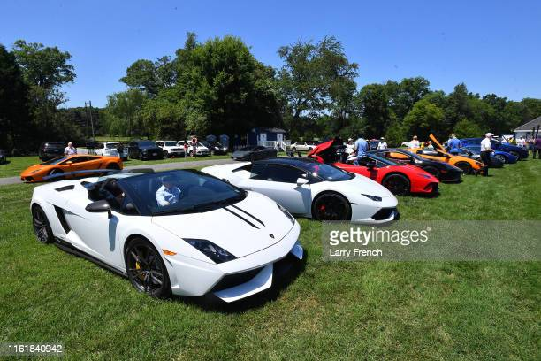The Lamborghini and McLaren owners clubs are seen at Grandiosity Events CigarsGuitars Charity PoloJazz charity event Powered by Logical Technology...
