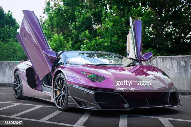 The Lamborghini Aventador Huber Era in Stevenage, Hertfordshire. This is the first and currently the only Huber Era Aventador in the world. The car...