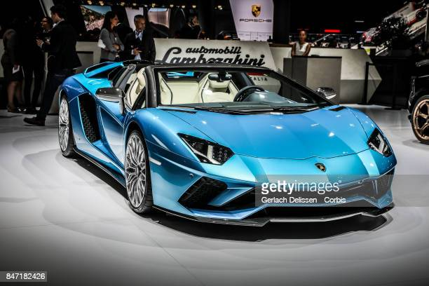 The Lamborghini Aventador S Roadster on display at the 2017 Frankfurt Auto Show 'Internationale Automobil Ausstellung' on September 13 2017 in...