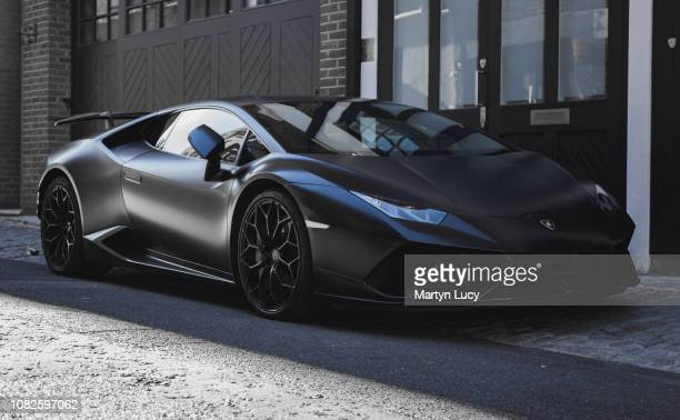 The Lamborghini Huracan in Mayfair, London. The Huracán made its worldwide debut at the 2014 Geneva Auto Show, and was released in the market in the...