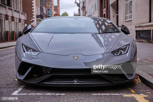 The Lamborghini Huracan Performante seen in Knightsbridge London The Performante a track oriented variant of the Huracan was unveiled at the 2017...
