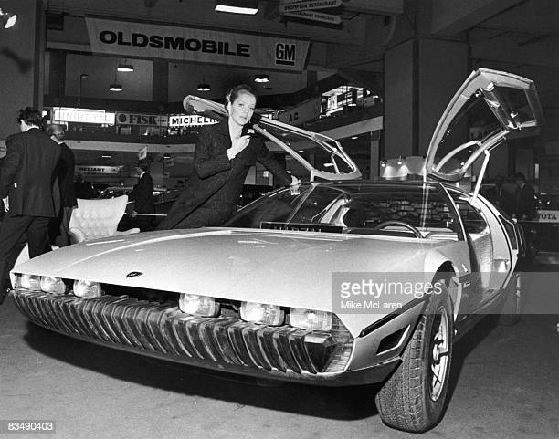 The Lamborghini Marzal a oneoff prototype concept car designed by by Marcello Gandini of the Bertone design studio at a preview of the London Motor...