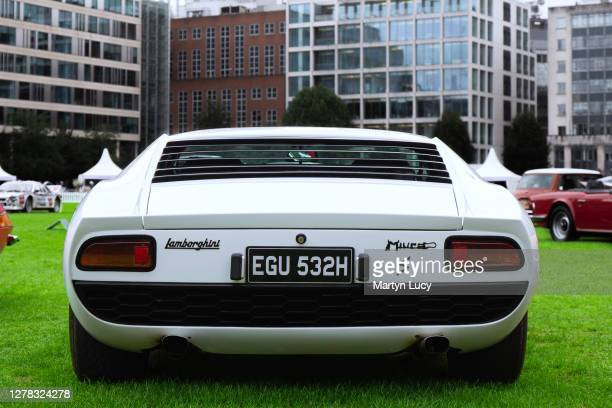 The Lamborghini Miura S seen at London Concours. Each year some of the rarest cars are displayed at the Honourable Artillery Company grounds in...