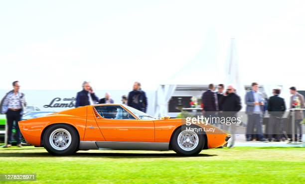 The Lamborghini Miura seen at Salon Prive, held at Blenheim Palace. Each year some of the rarest cars are displayed on the lawns of the palace, in...