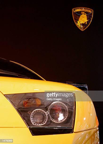 The Lamborghini Murcielago on display at the Sydney International Motor Show on October 17 2002 in Sydney Australia The Murcielago is lamborgini's...