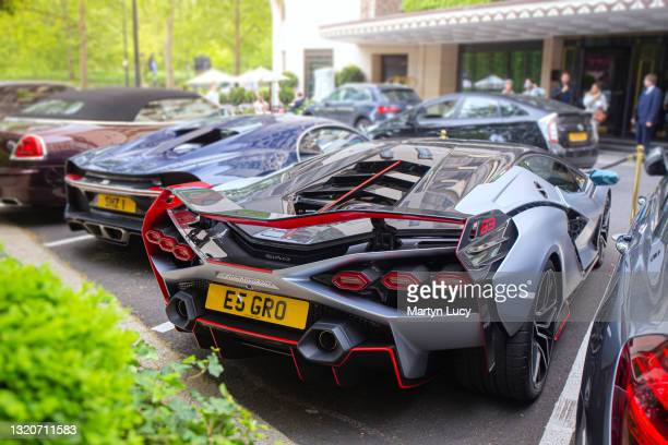 The Lamborghini Sian FKP 37 in London, United Kingdom. The Sian is Lamborghinis latest model to be released, and this car, the first to be delivered...
