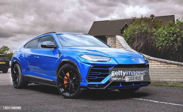The Lamborghini Urus seen at the Sharnbrook Hotel in Bedfordshire. The hotel holds car show events throughout the year to raise money for charity.