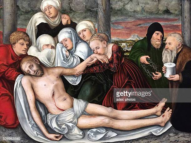 The Lamentation of Christ Oil on wood by Lucas Cranach the Elder Private collection