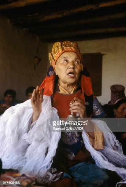 The Lamo Medicine Woman Of Skara In Ladakh Region Of State Of Jammu And Kashmir In The North Of India May 1989