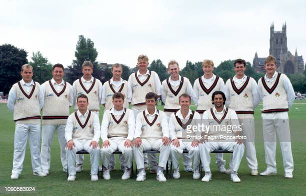 The Lancashire squad line up for a team photo before the Benson and Hedges Cup Semi Final between Worcestershire and Lancashire at New Road Worcester...