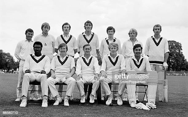 The Lancashire team before their John Player League match against Northamptonshire at Bedford School, 1st August 1971. Lancashire won by 73 runs....