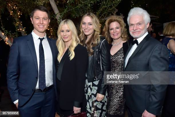 The Lancer Hammond family attends Alexa Dell and Harrison Refoua's engagement celebration at Ysabel on May 12 2018 in West Hollywood California