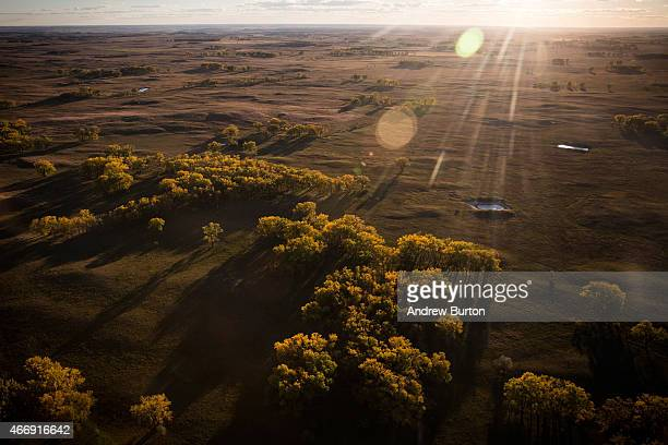 The land near where the proposed Keystone XL pipeline would pass is seen on October 13 2014 southeast of Winner South Dakota