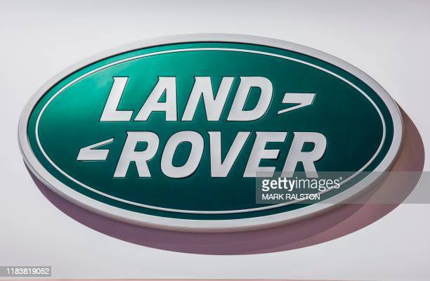 The Land Rover car logo on display during the AutoMobility LA event, at the 2019 Los Angeles Auto Show in Los Angeles, California on November 21,...