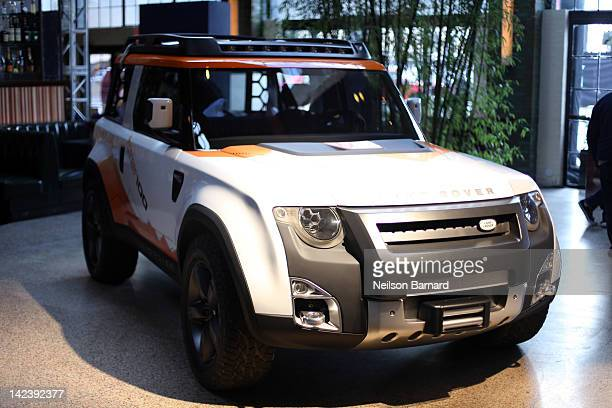 The Land Rover DC100 Concept expedition version is shown on display at the 25th Anniversary event for Land Rover in the US on April 3 2012 in New...