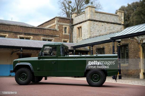 The Land Rover Defender that will be used to transport the coffin of Britain's Prince Philip, Duke of Edinburgh during the funeral procession is...