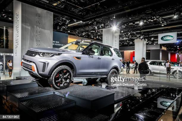 The Land Rover Discovery SVX on display at the 2017 Frankfurt Auto Show 'Internationale Automobil Ausstellung' on September 13 2017 in Frankfurt am...