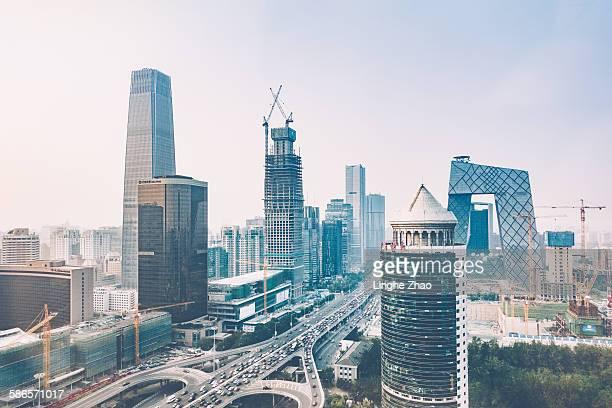 The landmarks and skyscrapers in Beijing