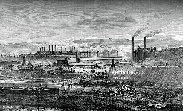 The Landore Siemens' steelworks, c1880. View of the factory in South Wales. A print from Great Industries of Great Britain, Volume I, published by...