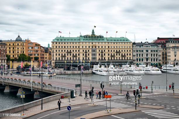 the landscape around stockholm palace, sweden - 宮殿 ストックフォトと画像