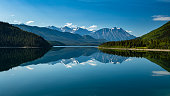 The Landscape between Carcross and Skagway in Alaska and Canada