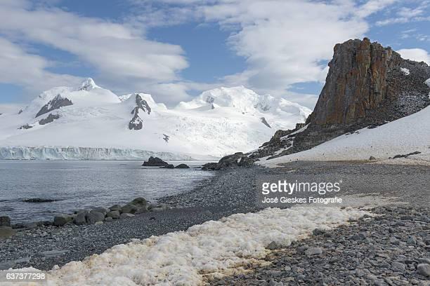 The landscape of Half Moon Island in the Antarctic region