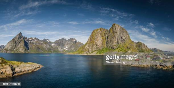 The landscape of Hamnoy and Reine, Lofoten Islands, Norway.