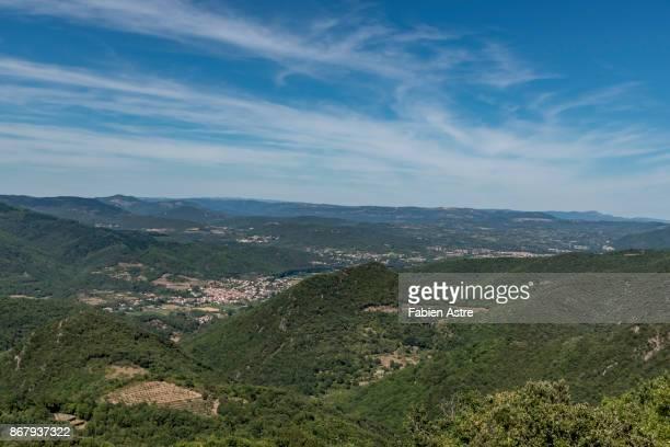 The landscape of Haut Languedoc Natural Park.