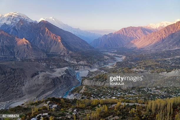 The landscape of Karakoram Highway from Hunza valley, Pakistan