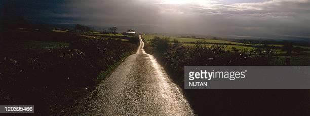 The landscape of Sligo region in Ben Bulben Ireland Road