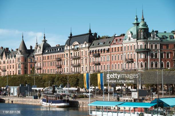 the landscape of stockholm city, sweden - stockholm cathedral stock pictures, royalty-free photos & images