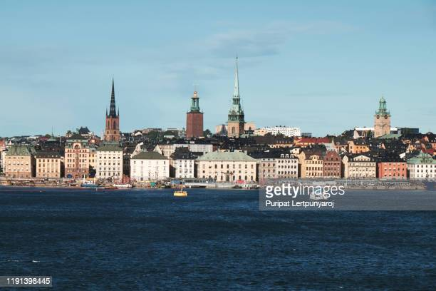 the landscape of stockholm city, sweden - stockholm stock pictures, royalty-free photos & images