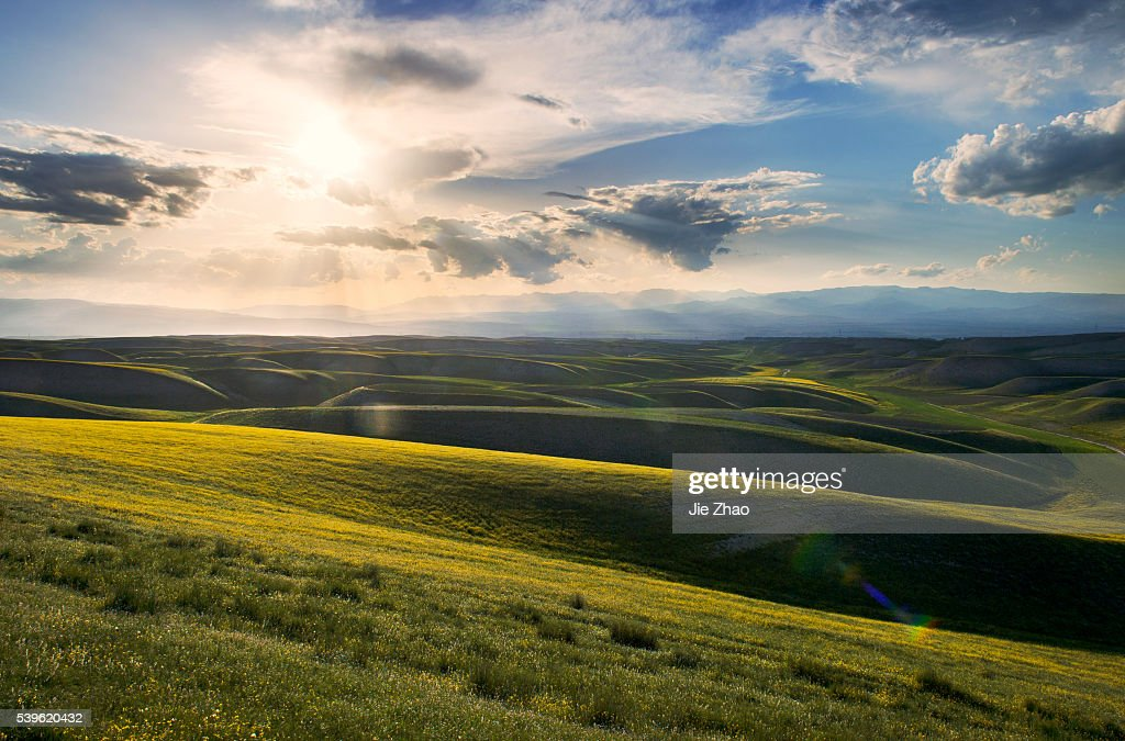 The landscape of Xinjiang Uyghur Autonomous Region in China : News Photo