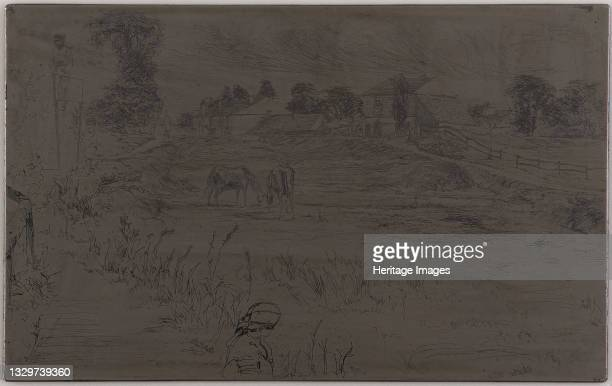 The Landscape with the Horse, 1859. Artist James Abbott McNeill Whistler.