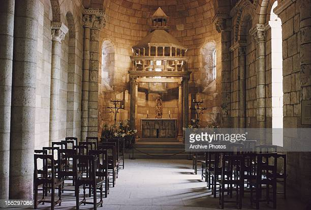 The Langon Chapel at The Cloisters in Fort Tryon Park New York City circa 1960