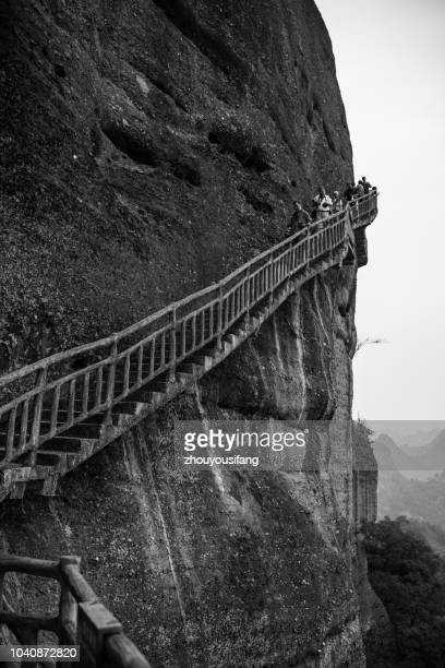 the langshan national geological park - china execution stock pictures, royalty-free photos & images