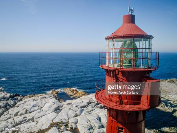 the lantern room of a lighthouse in bømlo, norway - hdri 360 ストックフォトと画像
