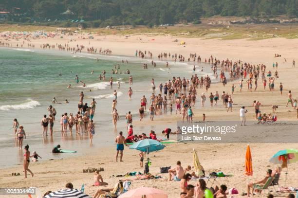 the lanzada is a beach in pontevedra (galicia - spain) - grove imagens e fotografias de stock