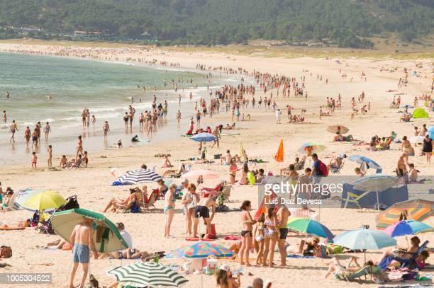 the lanzada is a beach in pontevedra (galicia - spain) - grove fotografías e imágenes de stock