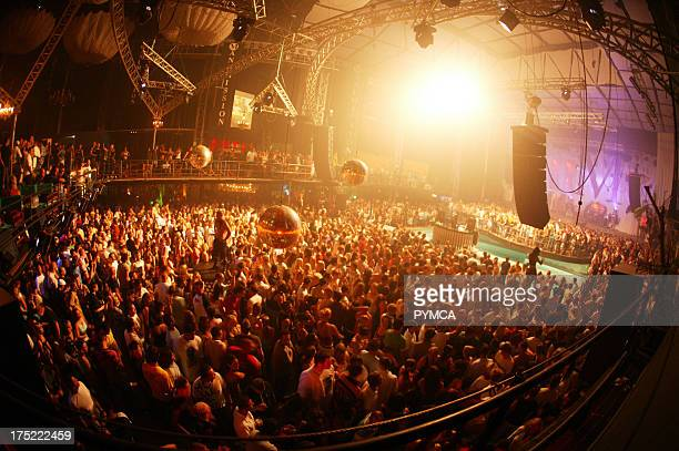 The large crowd on the dancefloor Manumission at Privilege Ibiza 2005