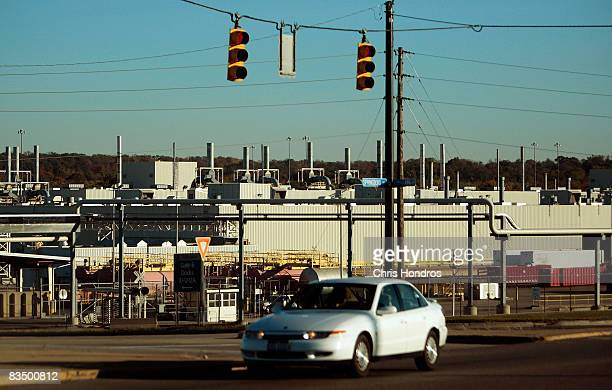 The large General Motors auto factory is seen October 30, 2008 in Moraine, a suburb of Dayton, Ohio. The tiny town of Moraine is bracing as General...