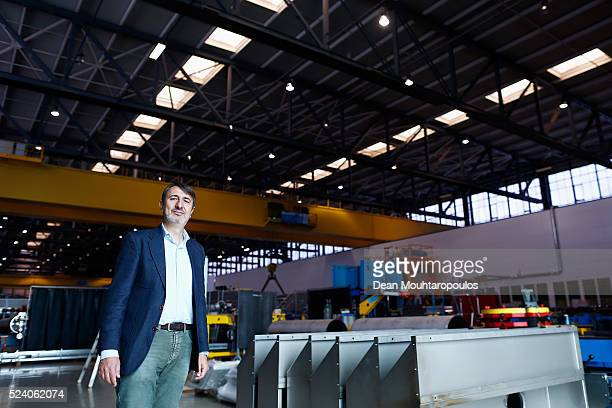 The Large Magnet Facility or LMF supervisor Rosario Principe poses in Building 180 at The European Organization for Nuclear Research commonly know as...