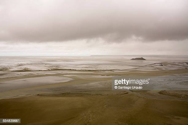 The large tidal area and bay of Mont Saint-Michel