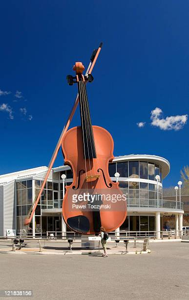 The largest Ceilidh Fiddle in the World, located at Sydney waterfront, Sydney, Nova Scotia, Canada