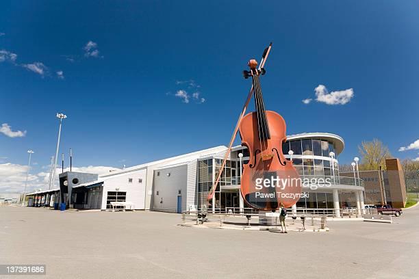 the largest ceilidh fiddle in the world - sydney fotografías e imágenes de stock